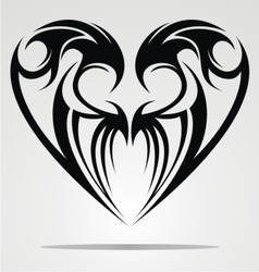 Heart Shape Tattoo Design vector image vector image