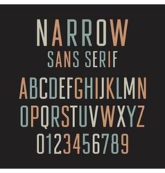 Narrow Sans Serif 001 vector image vector image
