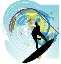 Surfer vector image