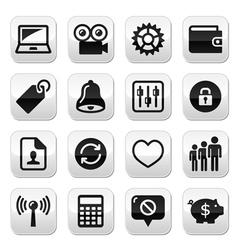 Web internet icons set - vector image