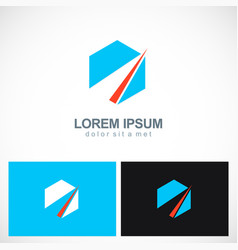 polygon shape abstract company logo vector image vector image