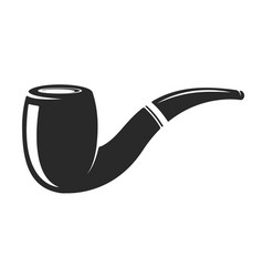 smoking pipe isolated on white background design vector image
