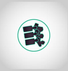 spine logo icon vector image