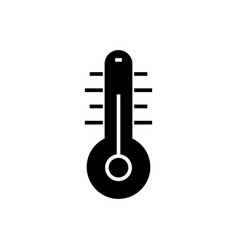 thermometer 2 icon black vector image