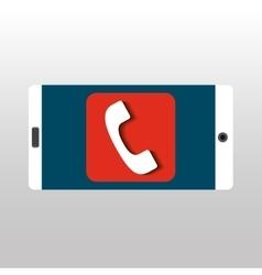 white smartphone telephone network digital vector image