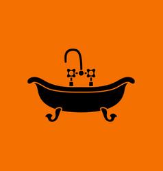 bathtub icon vector image vector image