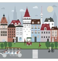 City life vector image