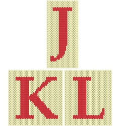 Knitted silhouette letters vector image vector image