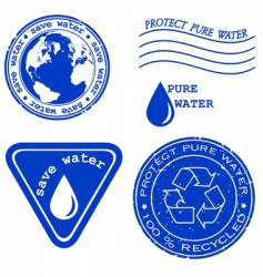 save water stamp vector image