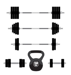 Sports equipment for fitness crossfit gym vector image