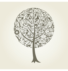 Tree the tool vector image