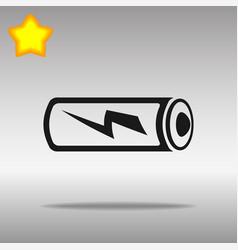 battery black icon button logo symbol vector image