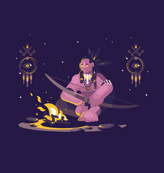 character indian american vector image