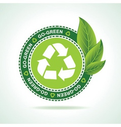 Eco-friendly recycle icon design vector image