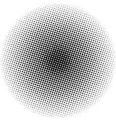 Optical dots radial gradient vector image vector image