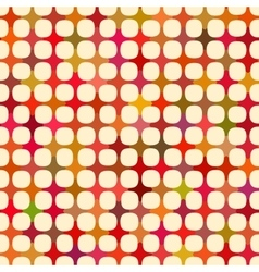 Seamless Multicolor Cross Tiling Grid With vector image vector image