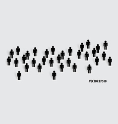 Social Network concept People cut out of paper vector image