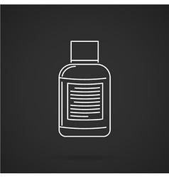 White line icon for fat burning supplements vector