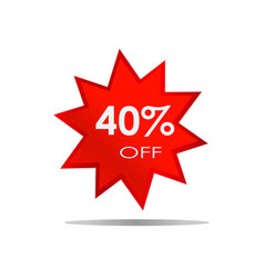 40 off sale discount banner special offer vector image