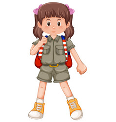 a cute girl scout character vector image