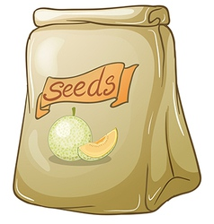 A pack of melon seeds vector