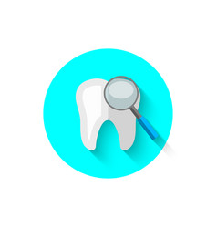 a review of the teeth in a flat style vector image