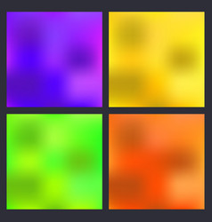 a set trendy liquid backgrounds multicolor vector image