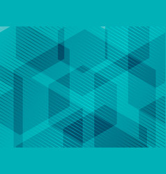 Abstract geometric hexagons blue background with vector