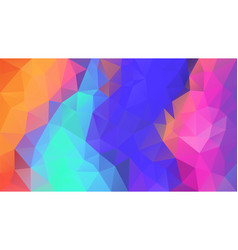 Abstract irregular polygonal background neon vector