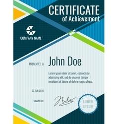 Achievement award certificate design vector