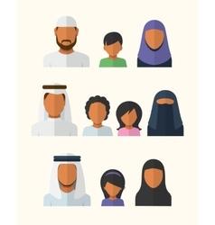 Arabic Families vector
