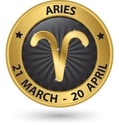 Aries zodiac gold sign symbol vector
