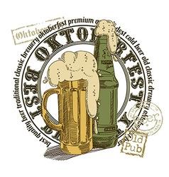 beer background vector image vector image