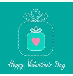 Big gift box and small gift box inside Valentines vector