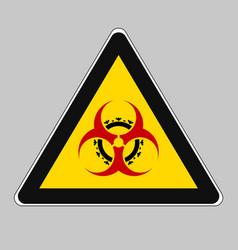 biohazard sign with a corona virus vector image