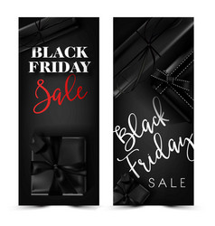 black friday sale discount promo fashion gift box vector image