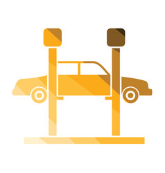 car lift icon vector image