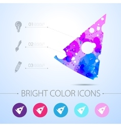 cheese icon with infographic elements vector image