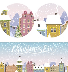 Christmas Old Town vector image