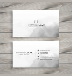 clean white business card design vector image