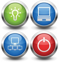 Computer buttons vector