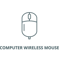 computer wireless mouse line icon vector image