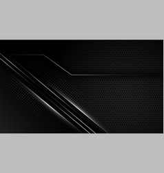 Dark black background with silver lines vector