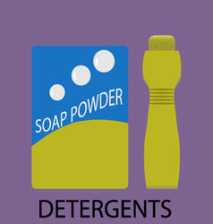 Detergents icon flat design vector image