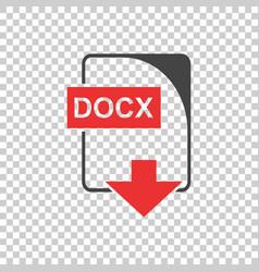 docx icon flat vector image