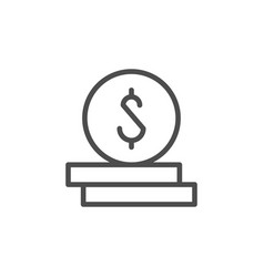 dollar coins icon and money concept vector image