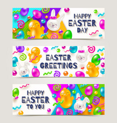 easter greeting banners vector image