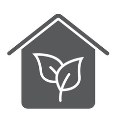 eco house glyph icon real estate and home vector image