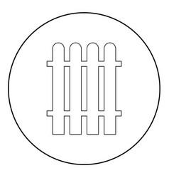 Fence icon black color in circle vector