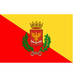 Flag of palermo of sicily italy vector